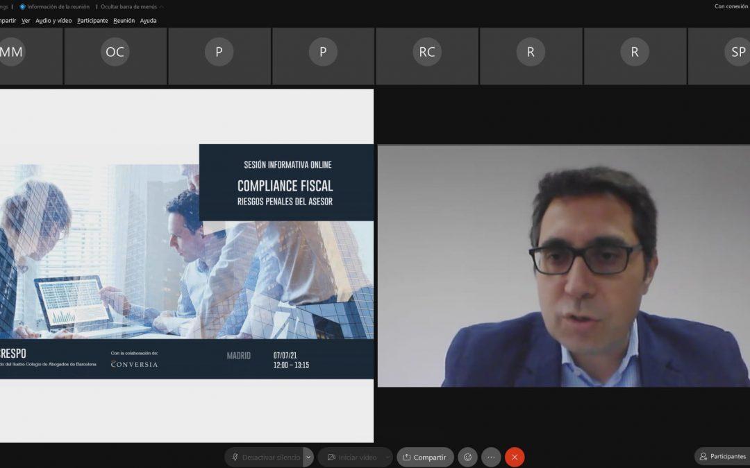 Sergio Crespo durante la sesión de compliance fiscal